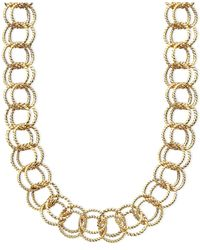 Betsey Johnson | Metallic Textured Round-link Necklace | Lyst