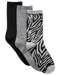 Charter Club | Gray Women's 3-pk. Zebra Socks for Men | Lyst