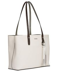 CALVIN KLEIN 205W39NYC - White Maggie Leather Medium Tote - Lyst