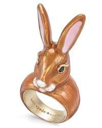 Kate Spade - Metallic Gold-tone Bunny Ring - Lyst