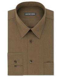 Geoffrey Beene   Green Men's Classic/regular Fit Wrinkle Free Solid Dress Shirt for Men   Lyst
