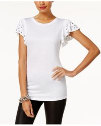 INC International Concepts - White Studded Top - Lyst