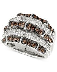 Le Vian - Metallic Diamond White And Chocolate Diamond (1-1/4 Ct. T.w.) In 14k White Gold - Lyst