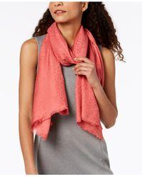 Calvin Klein - Multicolor Ck Logo Wrap & Scarf In One - Lyst