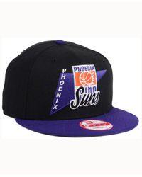 KTZ Black Phoenix Suns Hwc Logo Stacker 9fifty Snapback Cap for men