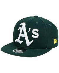 KTZ - Green Oaklands A's Chain Stitch Logo 9fifty Cap for Men - Lyst