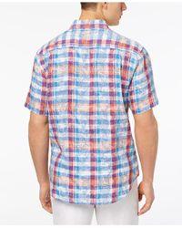 Tommy Bahama - Blue Tropico Madras Linen Sport Shirt for Men - Lyst