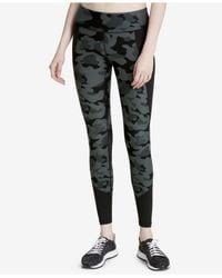 CALVIN KLEIN 205W39NYC - Black Printed Mesh-trimmed Leggings - Lyst