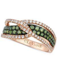 Le Vian - Metallic Diamond Crisscross Ring (1 Ct. T.w.) In 14k Rose Gold - Lyst