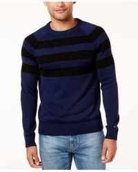 Tommy Hilfiger | Blue Men's Shaw Striped Sweater for Men | Lyst