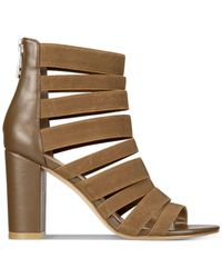 Charles David - Brown Ericka Strappy Block-heel Sandals - Lyst