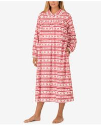 Lanz of Salzburg | Multicolor Plus Size Peter Pan Collar Flannel Nightgown | Lyst