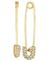 RACHEL Rachel Roy | Metallic Gold-tone Pave Safety Pin Drop Earrings | Lyst