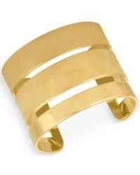 RACHEL Rachel Roy | Metallic Gold-tone Three Band Cuff Bracelet | Lyst