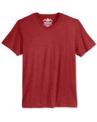 American Rag Red Men's V-neck T-shirt for men