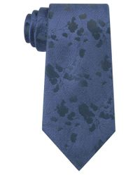 Calvin Klein | Blue Men's Abstract Floral-print Tie for Men | Lyst