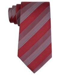 Kenneth Cole Reaction | Red Men's Elegant Stripe Tie for Men | Lyst