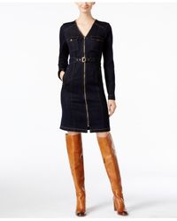 INC International Concepts | Blue Belted Denim Shirtdress, Only At Macy's | Lyst