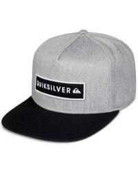 Quiksilver   Gray Men's Simplay Logo Hat for Men   Lyst