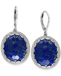 Effy Collection | Metallic Effy Lapis Lazuli Drop Earrings (24-1/2 Ct. T.w.) In Sterling Silver | Lyst