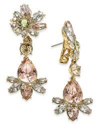 Givenchy - Metallic Gold-tone Multi-stone Drop Earrings - Lyst