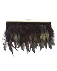 INC International Concepts | Black Milaa Feather Clutch, Only At Macy's | Lyst