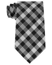 Geoffrey Beene - Black Men's Effortless Gingham Tie for Men - Lyst