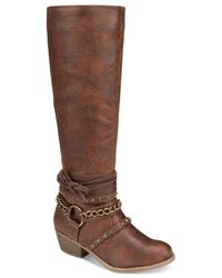 Naughty Monkey | Multicolor Tulia Riding Boots | Lyst