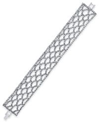 INC International Concepts | Metallic Silver-tone Open Work Pave Bracelet, Only At Macy's | Lyst