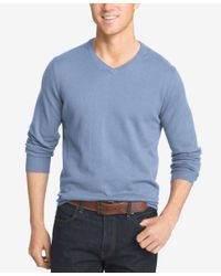 Izod | Blue Men's Campus V-neck Sweater for Men | Lyst