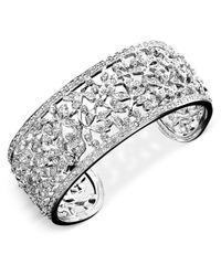 Danori   Metallic Bracelet, Crystal Accent Floral Cuff   Lyst