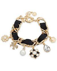 Charter Club | Metallic Gold-tone Imitation Pearl Charm Bracelet | Lyst