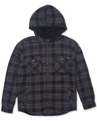 Rip Curl | Blue Men's Cassidy Flannel Plaid Shirt With Faux-fur Lining for Men | Lyst