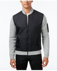 INC International Concepts | Multicolor Men's Mixed Media Quilted Jacket for Men | Lyst