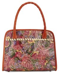 Patricia Nash | Multicolor Metallic Tooled Lace Paris Satchel | Lyst