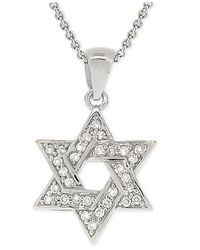 Giani Bernini | Metallic Cubic Zirconia Star Of David Pendant Necklace In Sterling Silver | Lyst