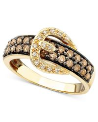 Le Vian   Metallic Chocolate Diamond (3/4 Ct. T.w.) And White Diamond Accent Buckle Ring In 14k Gold   Lyst