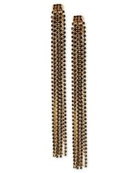 INC International Concepts | Black M. Haskell For Rhinestone Linear Tassel Earrings, Only At Macy's | Lyst