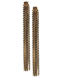 INC International Concepts   Black M. Haskell For Rhinestone Linear Tassel Earrings, Only At Macy's   Lyst