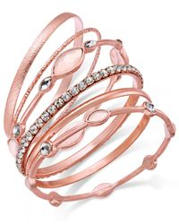 INC International Concepts | Multicolor Gold-tone 6-pc. Crystal Bangle Bracelet Set | Lyst