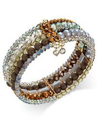 INC International Concepts | Metallic Gold-tone Beaded Cuff Bracelet | Lyst