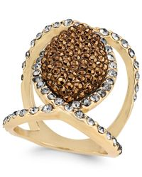 INC International Concepts | Metallic Gold-tone Mixed-crystal Statement Ring | Lyst