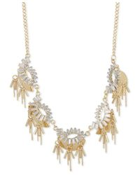 INC International Concepts | Metallic M. Haskell For Gold-tone Crystal Baguette Statement Necklace, Only At Macy's | Lyst