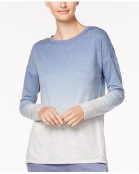 Alfani - Blue Dip-dyed Pajama Top - Lyst