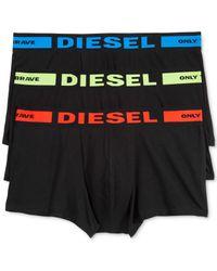 DIESEL | Black Men's 3-pk. Boxer Briefs for Men | Lyst