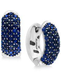 Effy Collection - Metallic Sapphire Pavé Hoop Earrings (2-3/4 Ct. T.w.) Set In Sterling Silver - Lyst