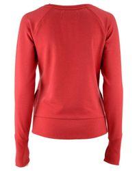 47 Brand Red Louisville Cardinals React Raglan Long Sleeve T-shirt