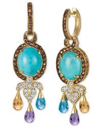Le Vian | Metallic Multi-gemstone Drop Earrings (11 Ct. T.w.) In 14k Gold | Lyst