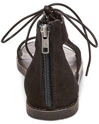 Steve Madden - Black Women's Delgado Two-piece Lace-up Sandals - Lyst