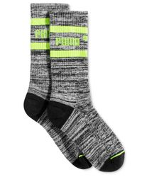 PUMA | Black Women's Mid-length Terry Tube Socks | Lyst
